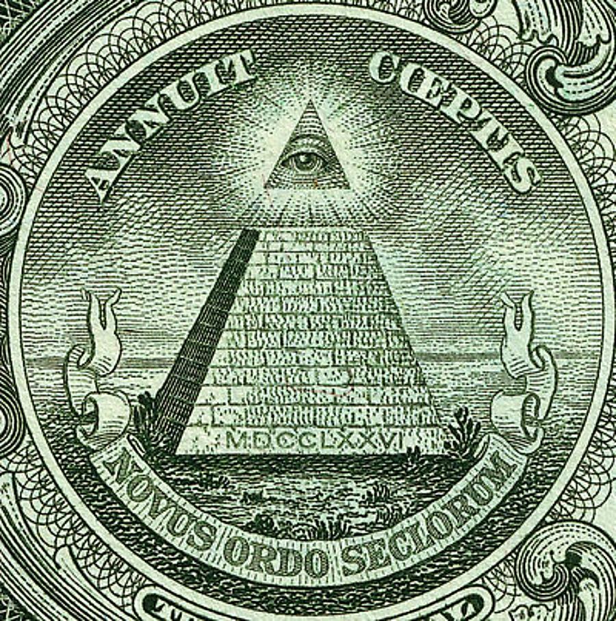 Die Pyramide auf dem Dollarschein.....